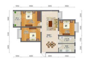 出售(城南)巴赛罗那3室2厅1卫122平精装修